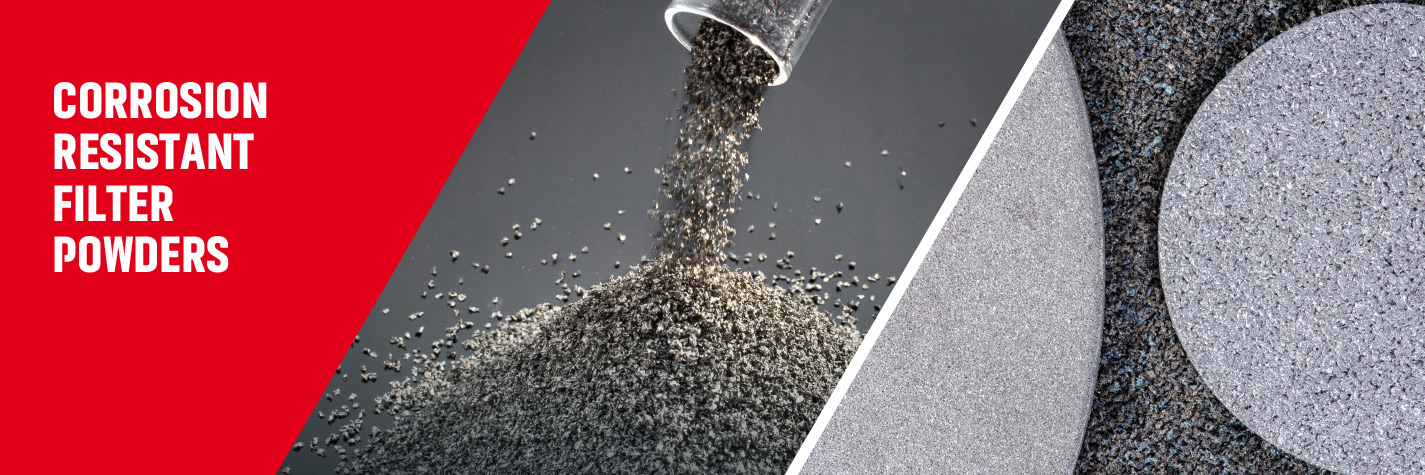 Filter metal powders for Sintered Metal Filters and Fiber spin packs by Ametek Eighty Four.