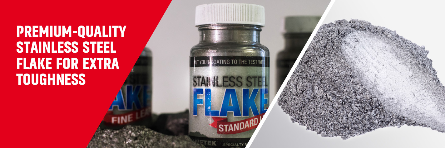Stainless Steel Flakes are produced from type 316L stainless steel – Ametek Eighty Four.