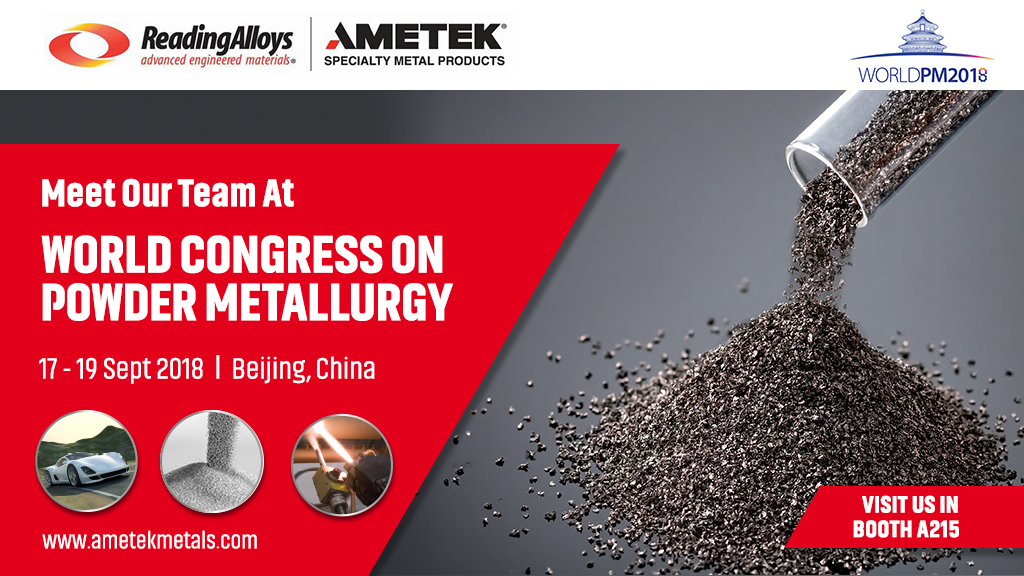 AMETEK SMP Eighty Four at World PM China 2018
