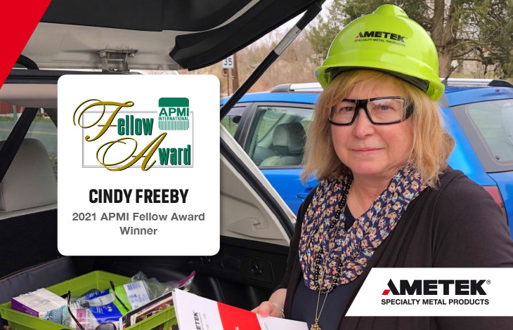 Women in Engineering - Interview with Cindy Freeby, Regional sales manager at atomized metal powders facility in Eighty Four
